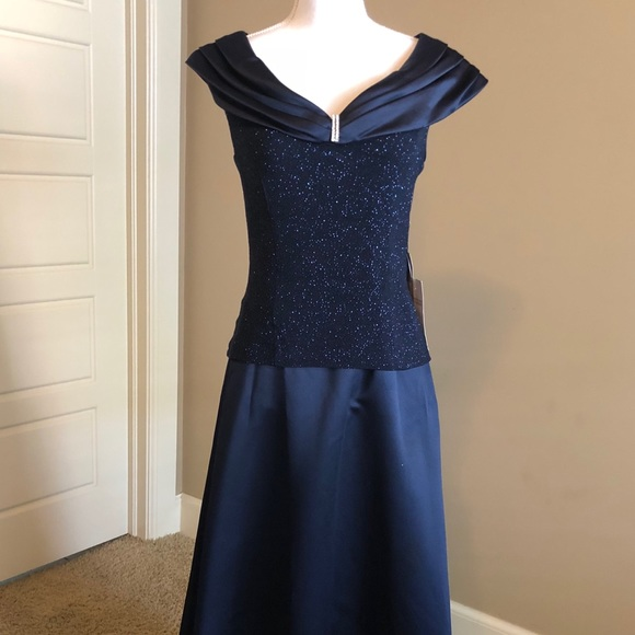 Patra Dresses Nwt Navy Blue Evening Gown By Size 10 Poshmark